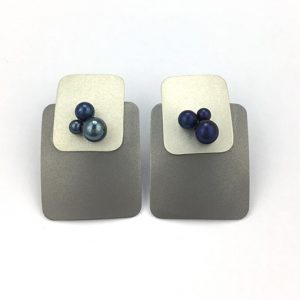 Sarah Murphy square titanium earrings