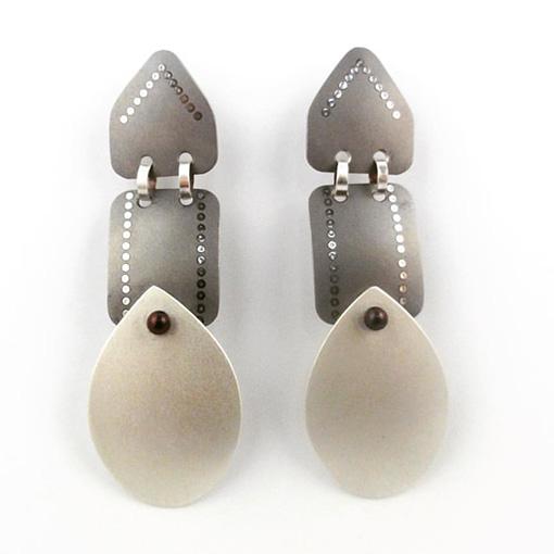 Sarah Murphy triple drop titanium earrings