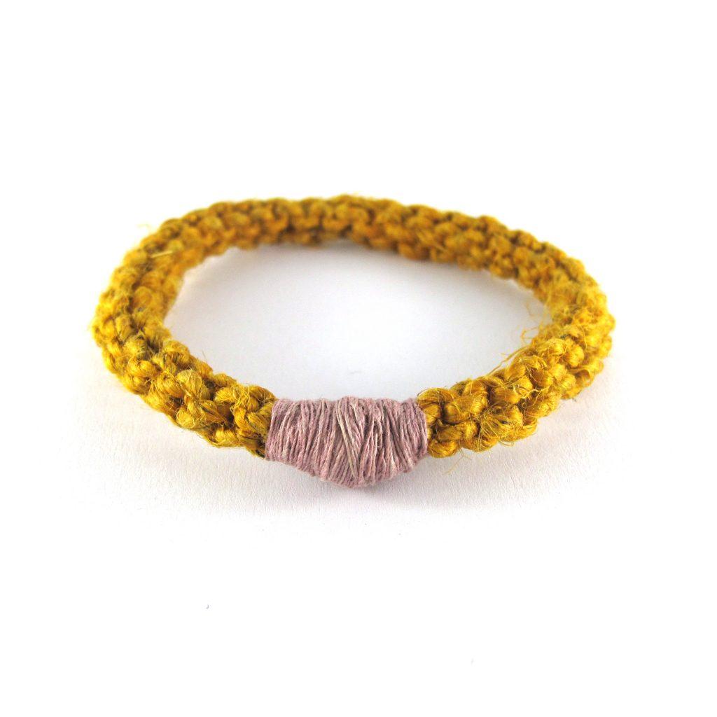 fibre and silver bracelet bridget kennedy