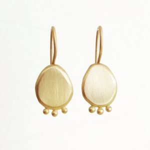 Completed earrings gold bridget kennedy