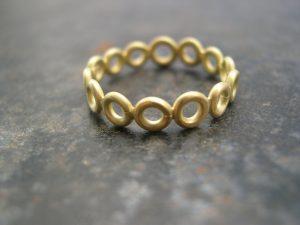 gold circle ring bridget kennedy bk