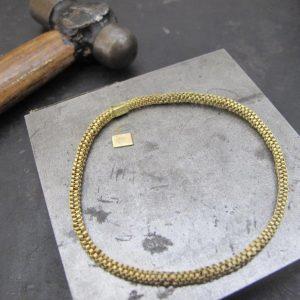 gold weaved bangle bridget kennedy