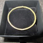 gold weaved bangle bridget kennedy