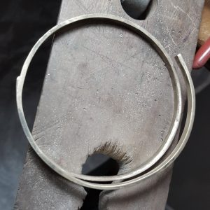 top view progress bangle bridget kennedy silver gold