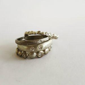nikki-g-remake-diamond-gold-rings silver diamond ring stack bridget kennedy