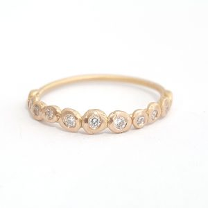 Bridget Kennedy 14ct Gold Pebble Ring