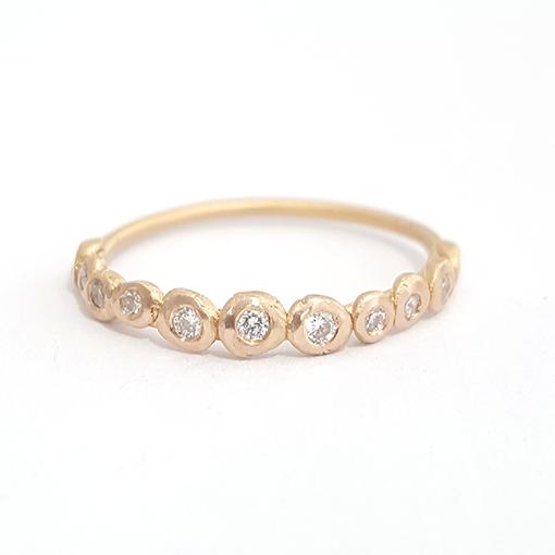 Bridget Kennedy 14ct Gold Pebble Ring