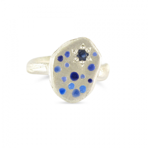 Bridget Kennedy Blue Rajasthani Sapphire and silver ring