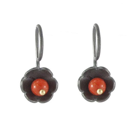 Coral  petals earrings
