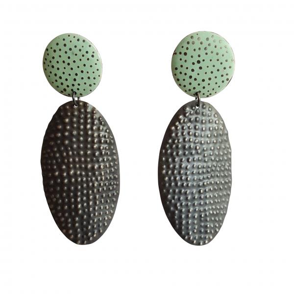 Bridget Kennedy going dotty mint drop earrings
