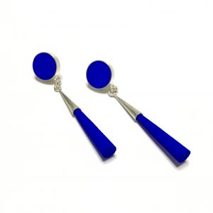 blue-nylon-silver-drop-earrings