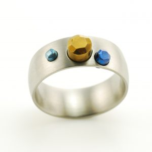 titanium-stones-hand-made-ring
