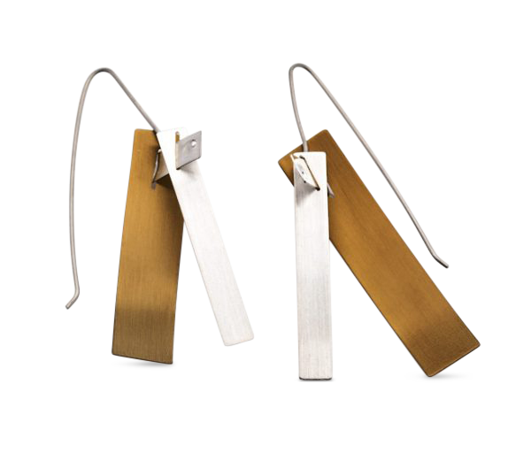 V-Williams-thread-titanium-and-silver-earrings