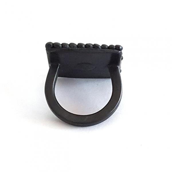 black-oxidised-silver-pebble-square-ring-back