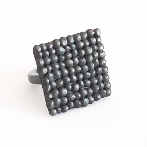 black-oxidised-silver-pebble-square-ring-side