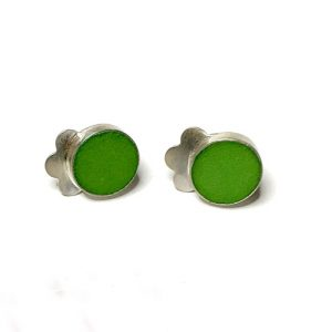 green stud designer earrings studio2017