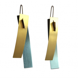 V Williams titanium coloured drop earrings