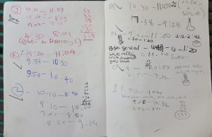 art log book pages 1
