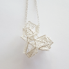 Anna Vlahos silver necklace five flower pendanr