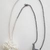 Anna Vlahos silver necklace five flower pendant