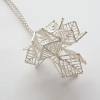 Anna Vlahos silver necklance five flower pendant