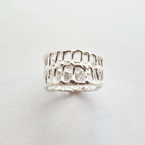 Anna Vlahos silver ring bone sterling