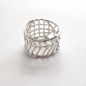 Anna Vlahos silver ring irregular sterling