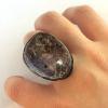 Coming from nothingamethyst and quartz ring