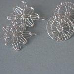 Anna Vlahos silver earrings
