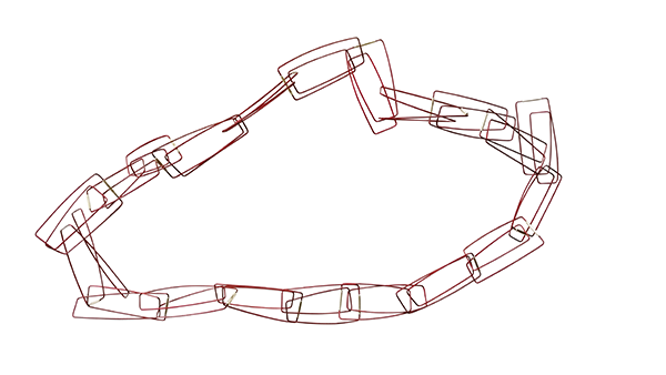 Szilvia Gyorgy Geometric Chain Bold Red web size