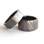 silver wedding commimtment rings