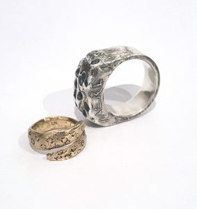 workshop - white gold and silver commitment rings