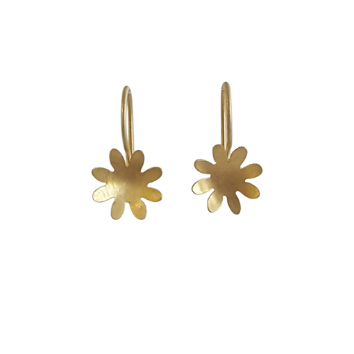 Bridget Kennedy 8 petal gold drops