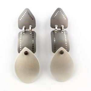 Sarah Murphy triple drop titanium earrings