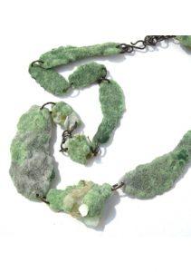 Bridget kennedy 2 green plastic moss necklace