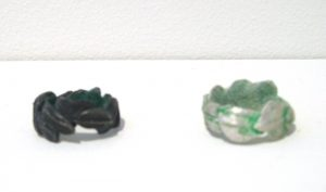 bridget kennedy back silver green rings