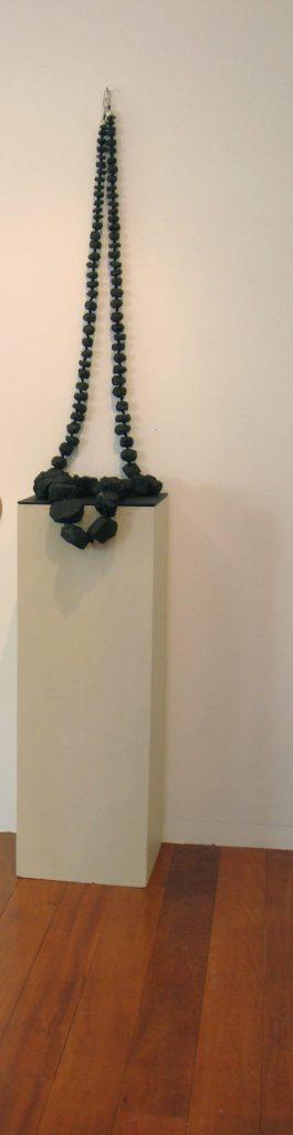 coal installation bridget kennedy necklace