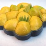 lipoma lemon brooch yellow plastic