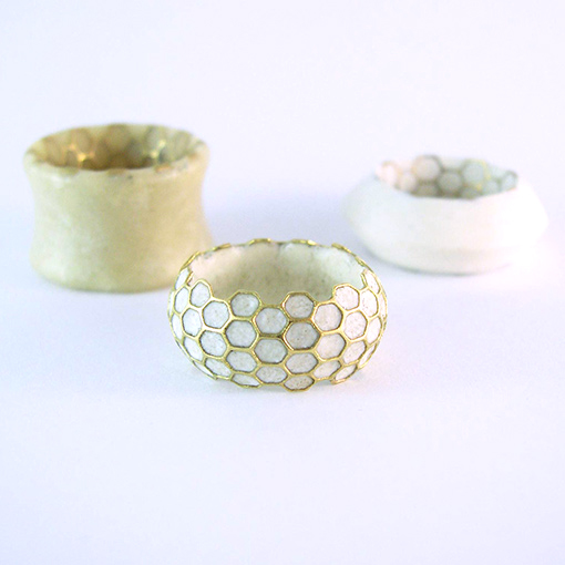beeswax gold silver rings
