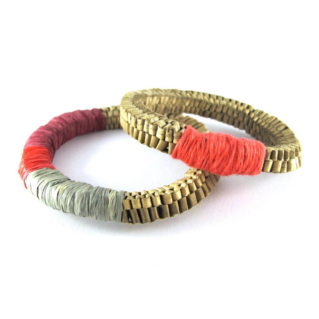 pandanas fibre bangles linen thread bridget kennedy