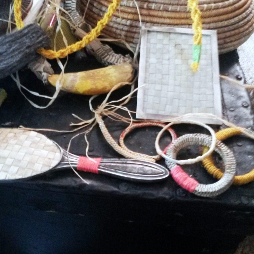 bridget kennedy weaving items hairbrush bracelet fiber