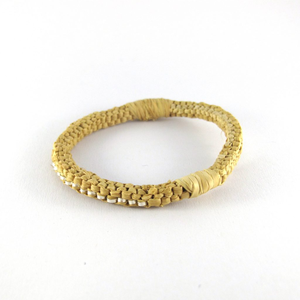 fibre and silver bracelet bridget kennedy
