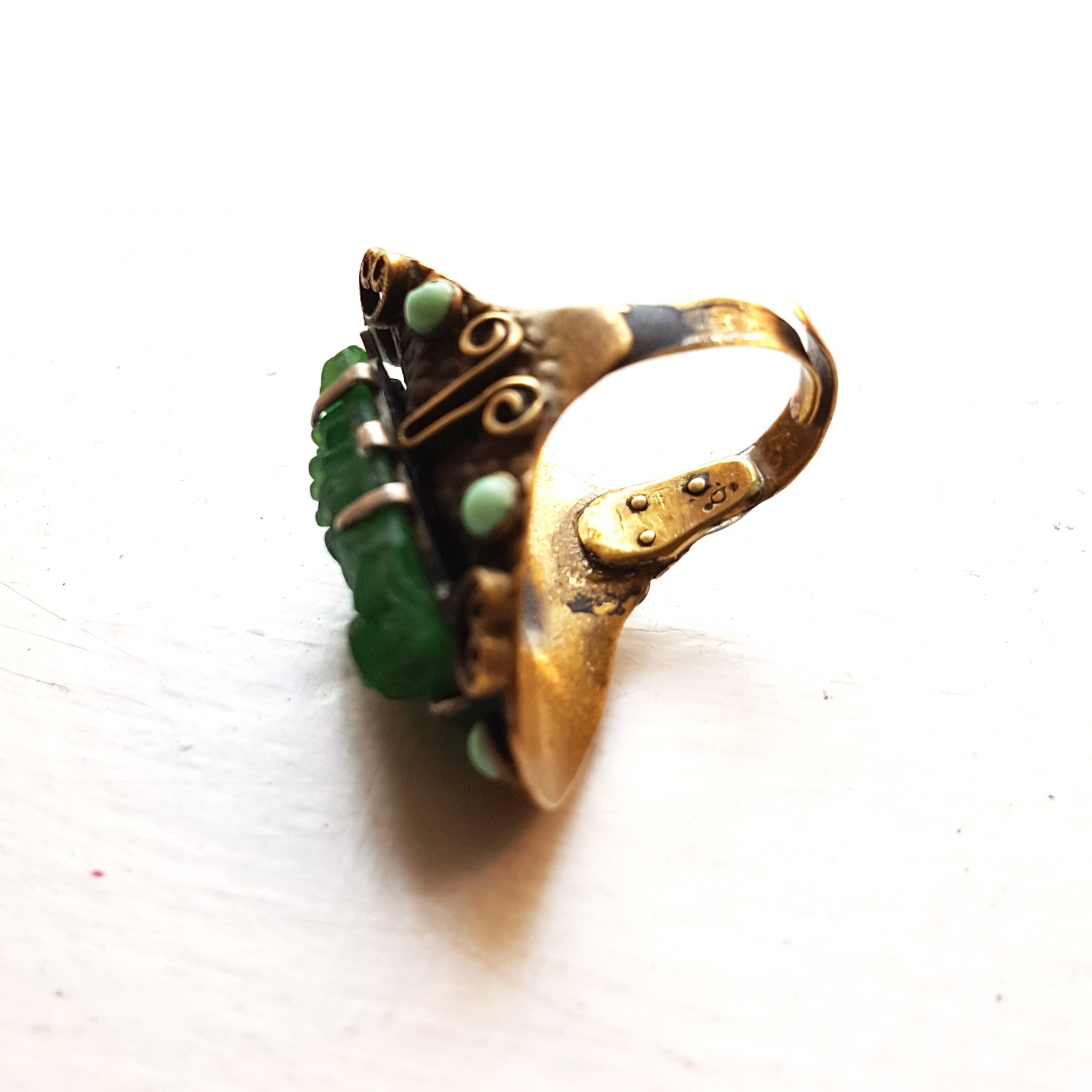 gold and green ring bridget kennedy