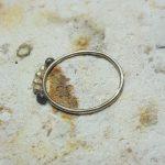 Silver dots pebble rings