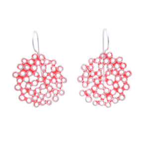 Bridget Kennedy big melt coral silver earrings