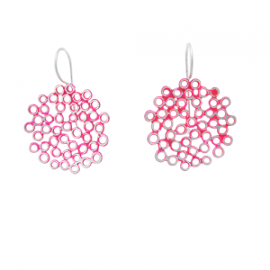 Bridget Kennedy big melt earrings pink silver drop earrings
