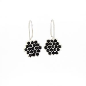 Bridget Kennedy Honeycomb Black Earrings