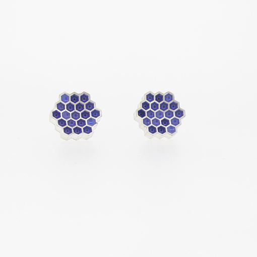 Bridget Kennedy Honeycomb Lavender Stud Earrings