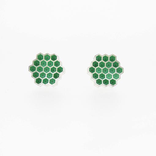 Bridget Kennedy Honeycomb Spearmint Stud Earrings