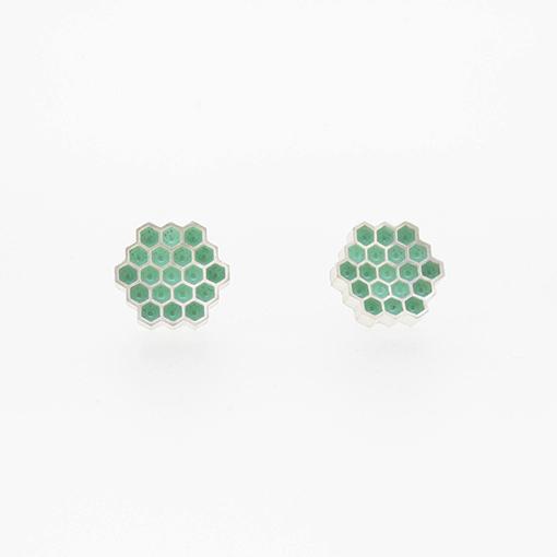 Bridget Kennedy Honeycomb Turquoise Stud Earrings